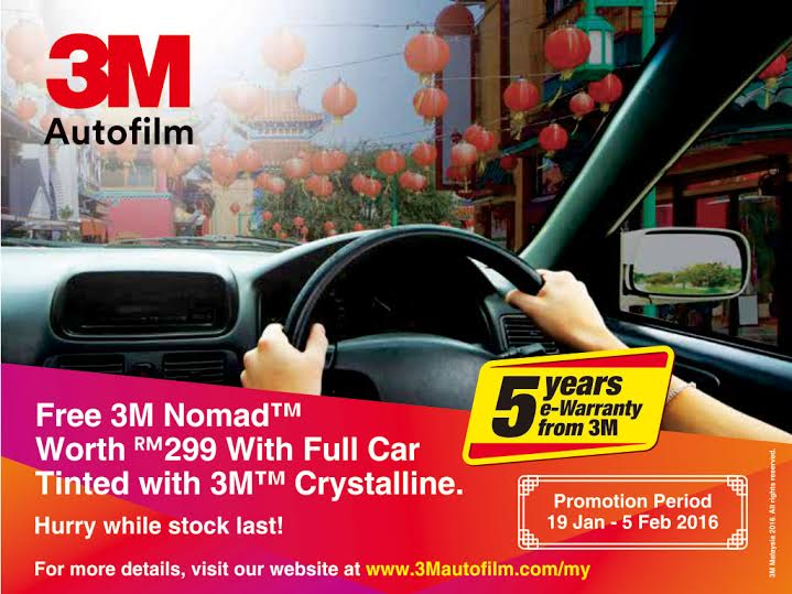 3M Car Tinted Promotion