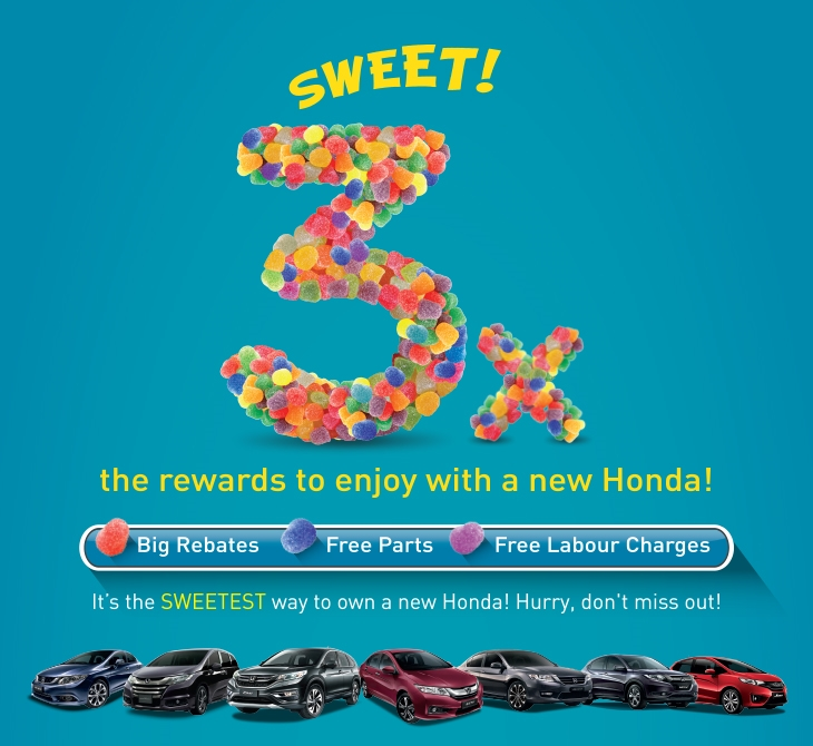 Owning A Honda Is Now 3x Sweeter!