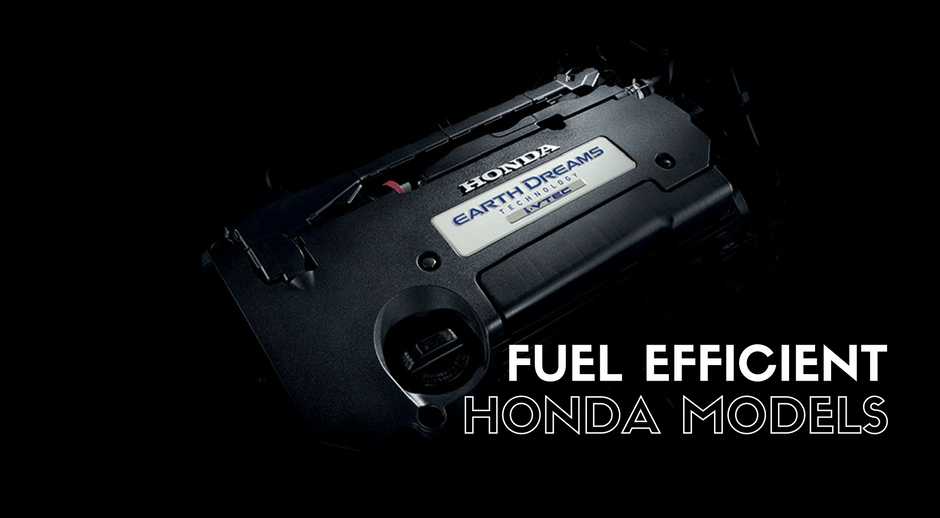 Get great fuel economy with a new Honda
