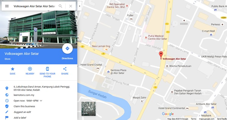 googlemapsvolkswagenalorsetar