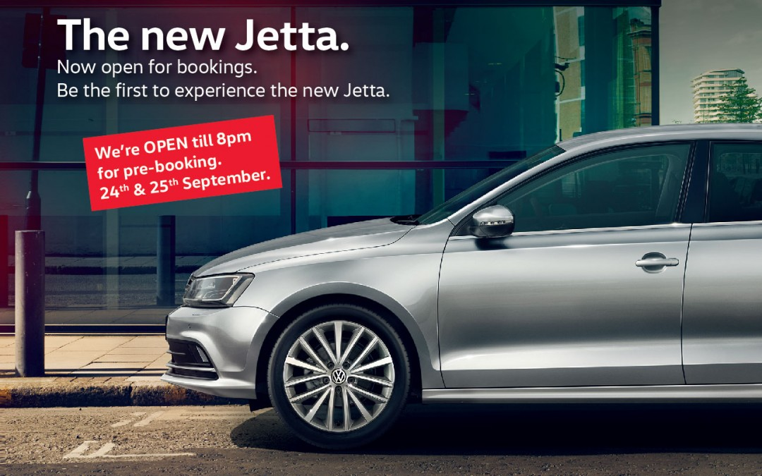 The New Jetta Now Open for Booking