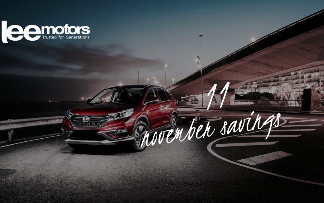 Honda: November Savings